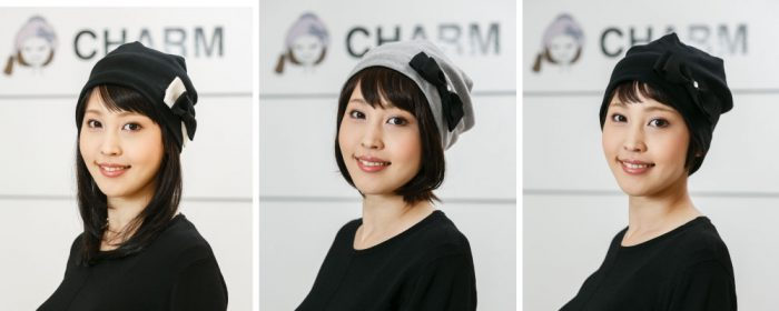 便利な髪の毛付きケア帽子
